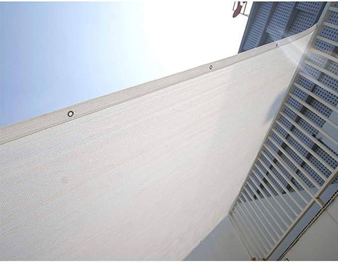 Lona de sombra CNWJX con 80% de tela de sombra blanca, borde de ...