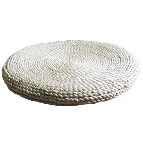 Amazon.com : JERPOZ Straw Futon Cushion, Knit Mat, Tatami ...