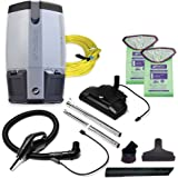 ProTeam Commercial Backpack Vacuum Cleaner, ProVac FS 6 Vacuum Backpack with HEPA Media Filtration and Commercial Power Nozzle Tool Kit, 6 Quart, Corded