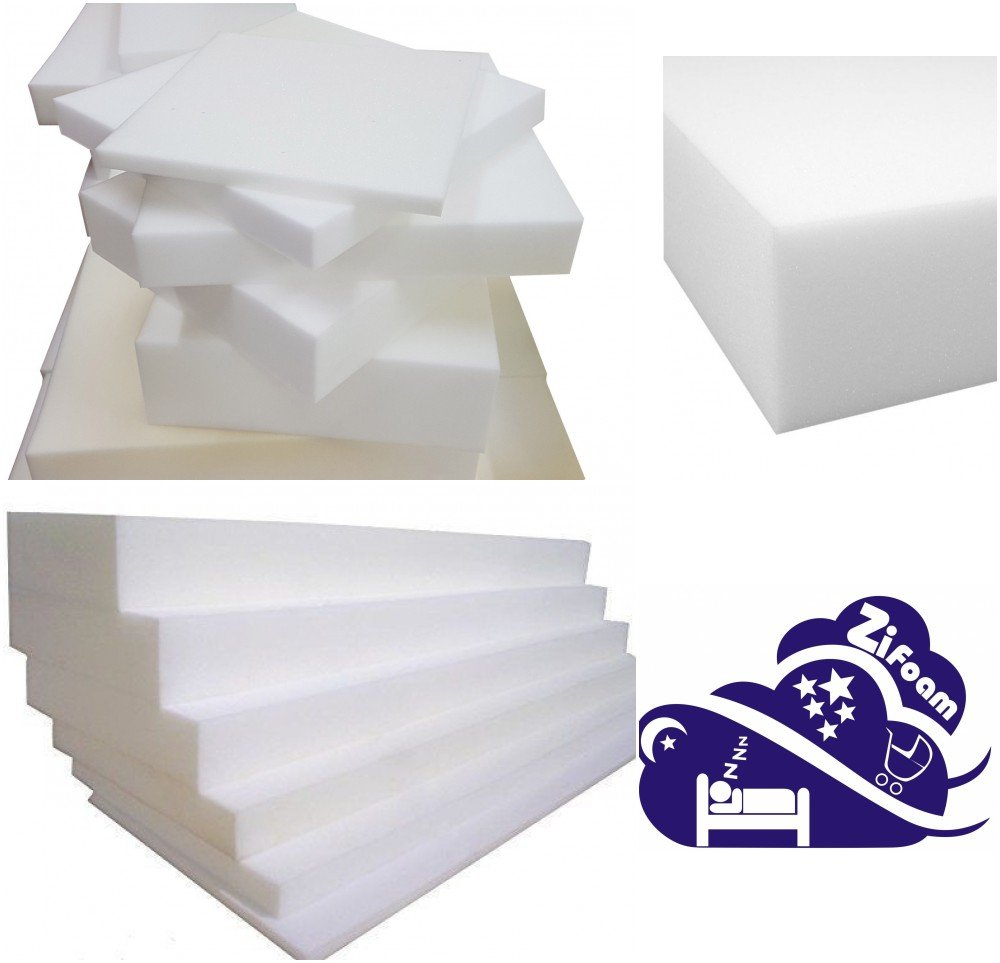 High Density Foam, Grade A Replacement Foam Mattress Topper Cot Junior Kids Bed Choose from Size, 5 cm to 4 cm and (Cut Any Size Foam) (100L x 50 x 5cm) Zi Foam Ltd cut/4cm