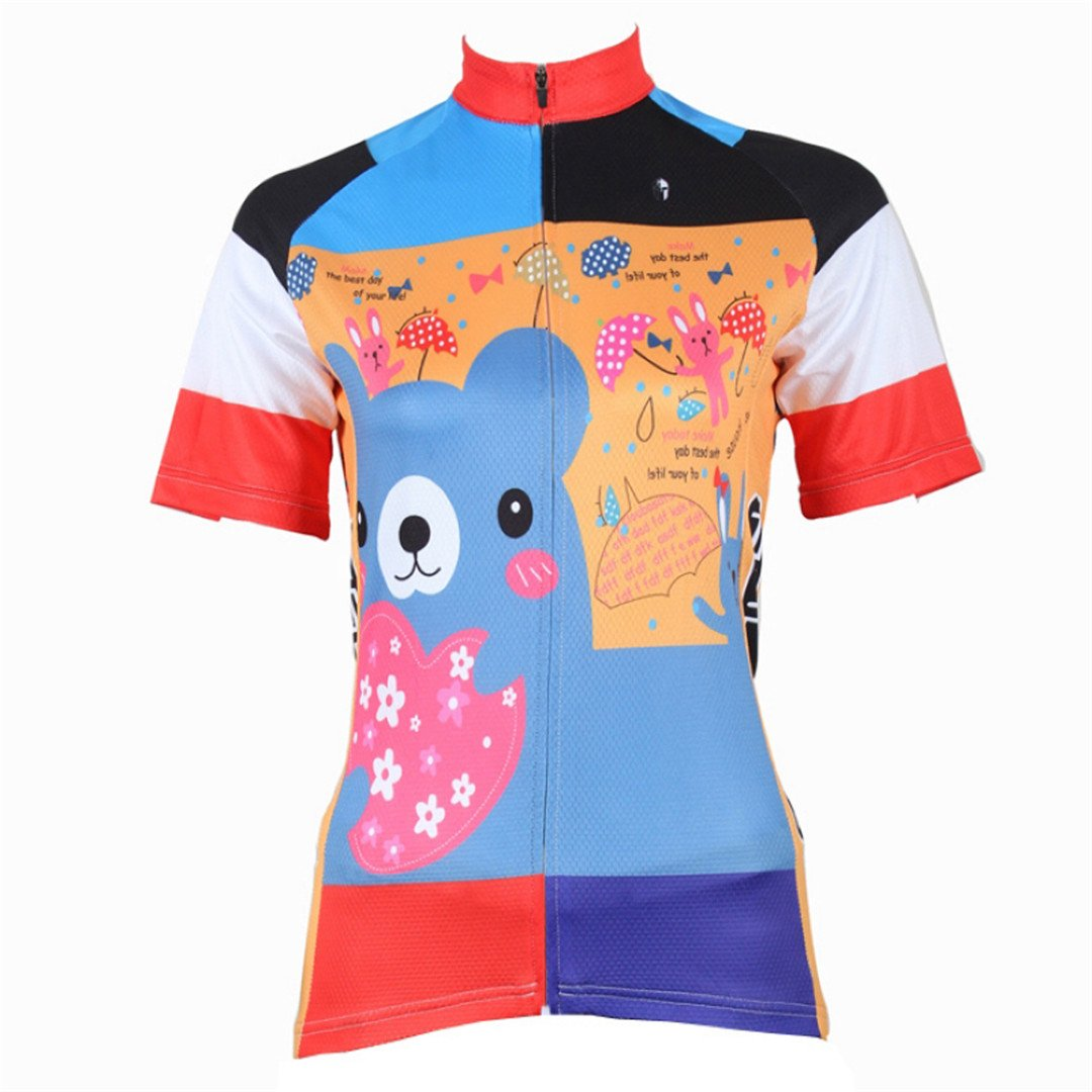 Women's Short Sleeve Cycling Jersey Jacket Moisture Wicking Outdoors Sports Shirt Quick Dry Breathable Mountain Clothing Bike Top Cute CC-Women-Short-210