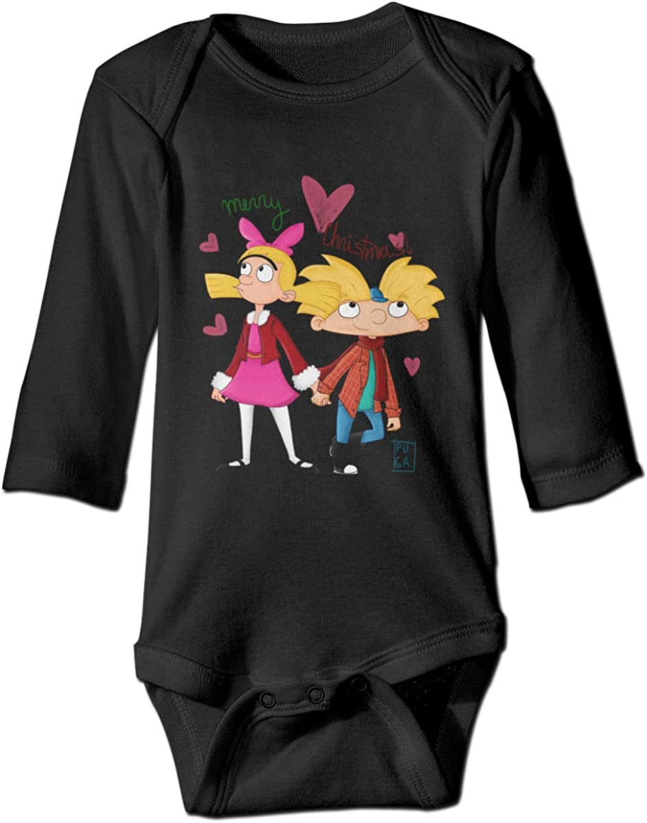 Hey Arnold Newborn Long Sleeve Onesies Bodysuit for Baby Boys Girls