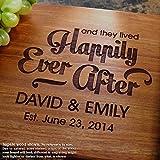 Personalized Cutting Board, Custom Keepsake, Engraved Serving Cheese Plate, Wedding, Anniversary, Engagement, Housewarming, Birthday, Corporate, Closing Gift #014
