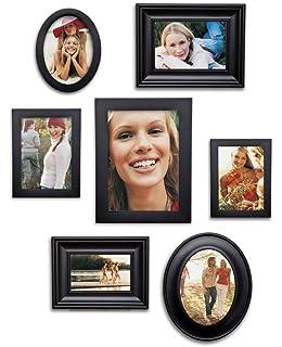 7 piece contemporary black picture frame set