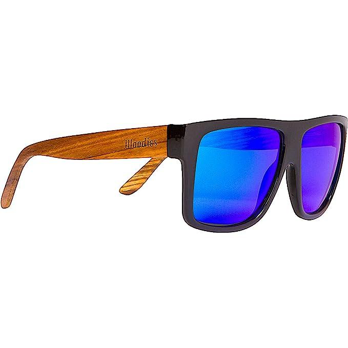 Amazon.com: Woodies madera de cebra Aviator Wrap anteojos de ...