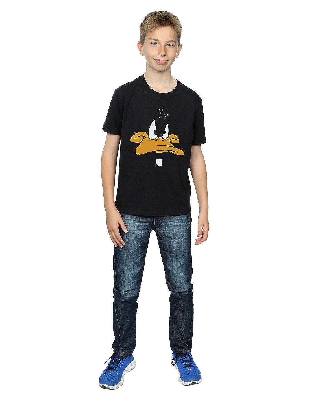 Looney Tunes Boys Daffy Duck Big Face T-Shirt