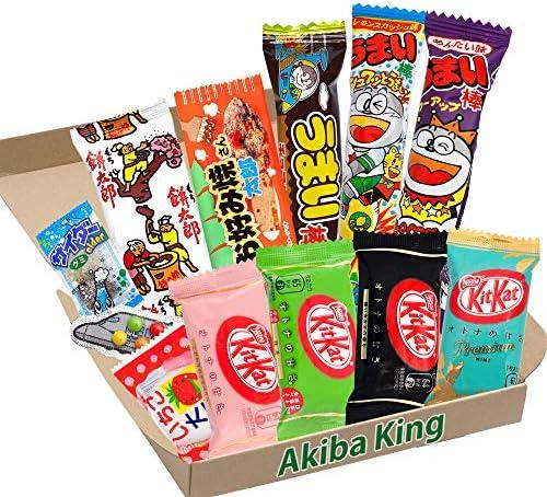 Kit Kat chocolate y prueba Japonés Dagashi Caja Umaibo snack gomoso papa frita w / AKIBA KING Pegatina: Amazon.es: Alimentación y bebidas