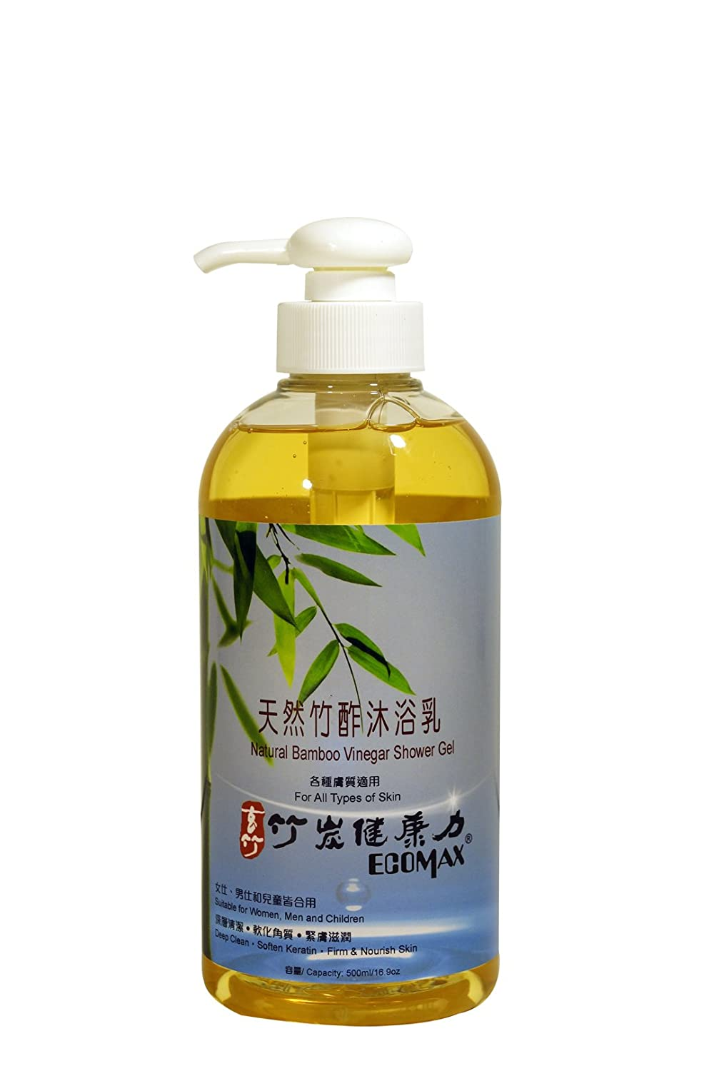Natural Shower Gel Beauty Soap Body Wash Lotion With Bamboo Vinegar Cleanse Body Deeply,Special for Sensitive Skin,Rough Skin,Keratosis Pilaris,Skin Bump,Body Odor,Keratin,16.9oz,Taiwan