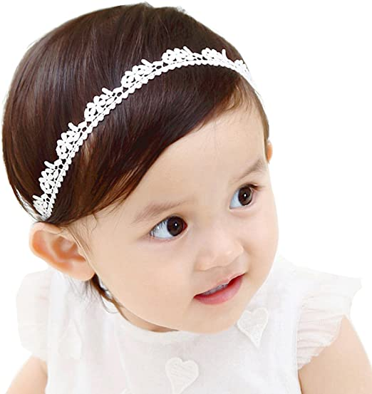 Baby Girl Headband Elastic Hair Band Flower Bow Hair Accessories Christening