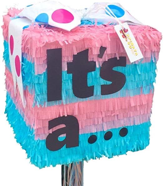 Gender Reveal Pinata Gender Reveal Custom order Pinatas Gender Reveal BIG box Personalized Pinata