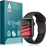 IQShield Apple Watch Screen Protector (42mm)(Apple Watch Nike+, Series 3/2/1 Compatible)(6-Pack), Matte Full Coverage Anti-Glare Screen Protector [Bubble-Free Film]