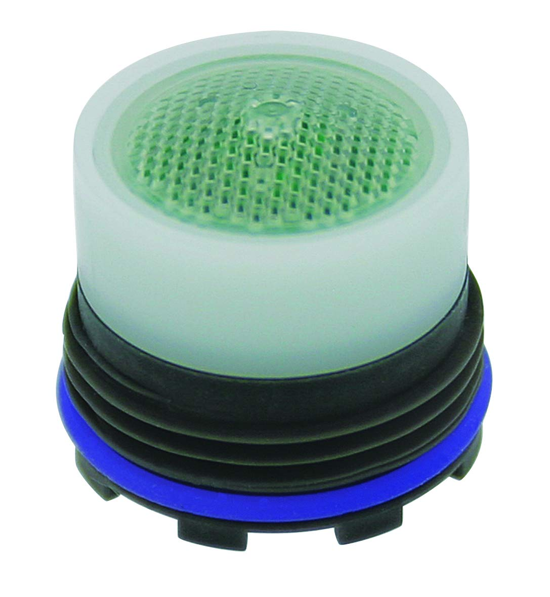Neoperl 13 0230 2 Economy Flow PCA Cache Perlator HC Aerator, Tom Thumb Size, 1.5 GPM, Green/Clear Dome, Honeycomb Screen, Aerated Stream, M16.5 x 1 Threads, Plastic, 0.591'' Height (Pack of 6) by Neoperl