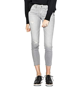 8066a9db134 Amazon.com  Silver Jeans Co. Women s Aiko Mid Rise Ankle Skinny ...