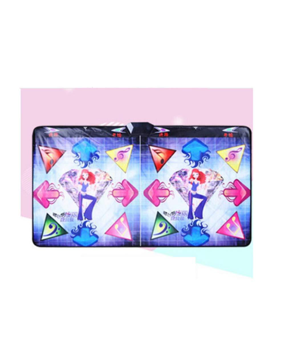 QXMEI Tanzmatte Doppel-TV-Schnittstelle Computer Dual-Use-Somatosensorik Spielekonsole 48.5cm34.5cm11.5cm,Farbe