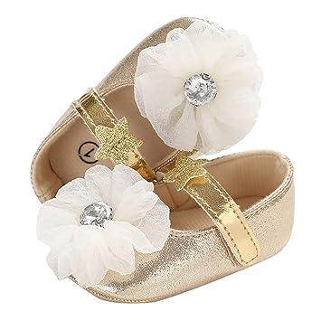 6d9106dec0fed Amazon.com  Toddler Baby Girl Princess Shoes Pretty Bow Diamond Single Shoes  Sequins Soft Sole Crib Shoes Toddler Prewalker (Age 6-12Months