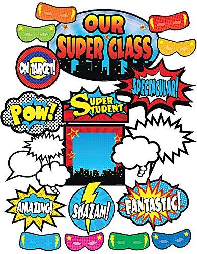 Teacher Created Resources Superhero Bulletin Board (5568) (Superhero Decorations)