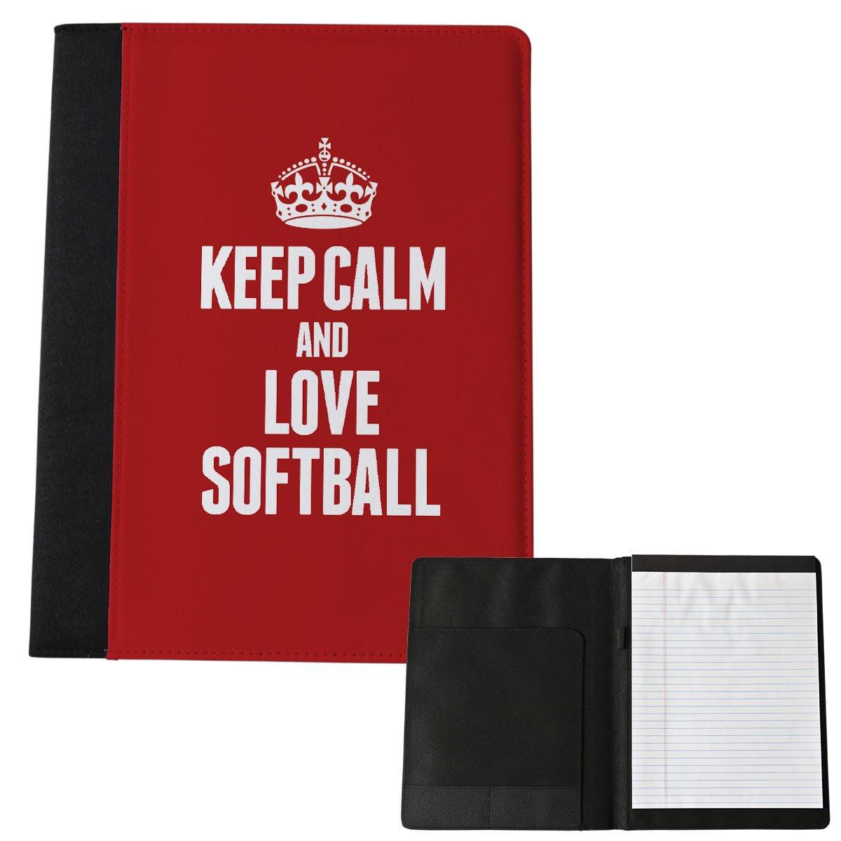 Rot Keep Calm und Love Softball groß Notizblock 1904 Duke Gifts
