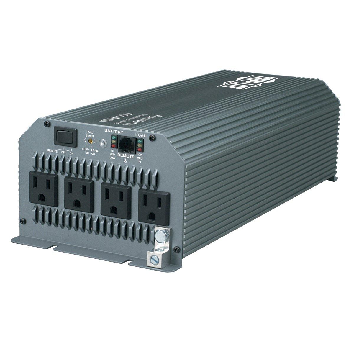Tripp Lite Power Compact Inverter, 1800W, 12VDC, 120V, 5-15R, 4 Outlets for Automobiles, RVs, Trucks, Fleet Vehicles & Emergency Vehicles  (PV1800HF) by Tripp Lite (Image #1)