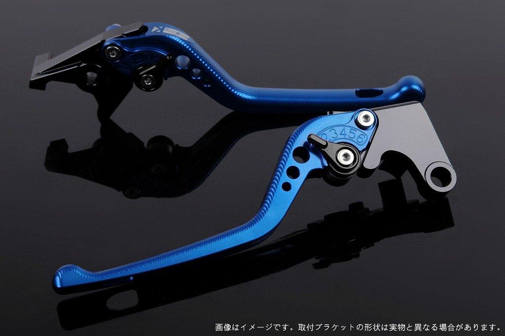 SSK アジャストレバー 3Dロング レバー本体カラー:ブルー アジャスターカラー:ブラック TUONO V4R/Factory 2011-2016 AP0407105-BK B07MX78NFM