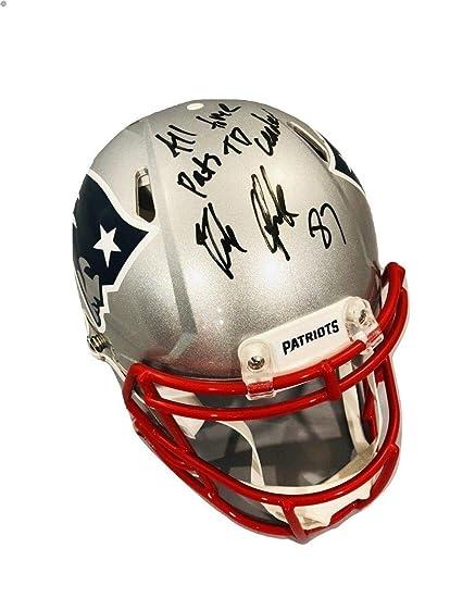 6ac89021959 Rob Gronkowski Signed Helmet - FS Authentic Speed TD Leader - Autographed  NFL Helmets