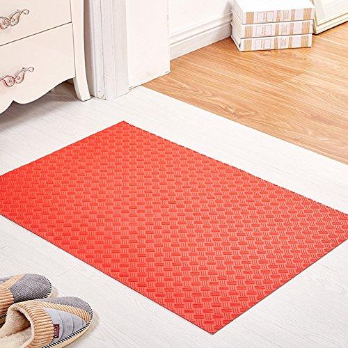indoor mats/Hallway toilet mat/Kitchen bathroom non-slip mat/PVC plastic mat-C 60x90cm(24x35inch)