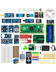TICTID Raspberry Pi Pico Kit, krachtig microcontroller-ontwikkelingsboard met RP2040 Chip Dual Core ARM Cortex M0+ processor/264KB SRAM/16MB Off-Chip Flash, voor beginners en experts