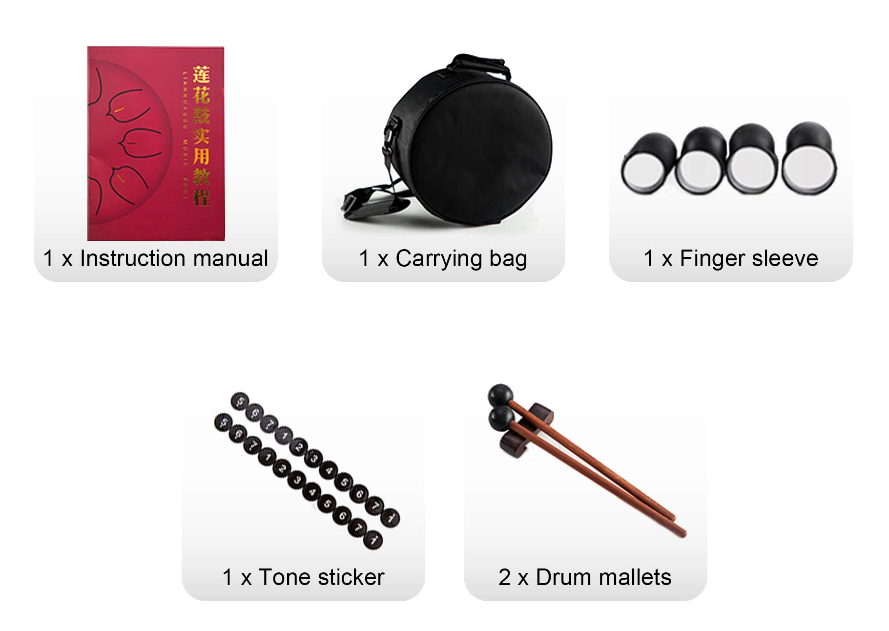 10 Inch 11 Notes Steel Tongue Drum Highest Quality D Major Percussion Hang Drum Instrument Padded Travel Bag and Mallets Included Yoga Meditation Music Therapy Lotus Gold by KELEODY (Image #6)