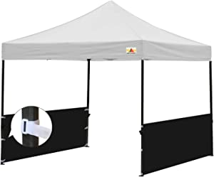 ABCCANOPY Two Half Walls for 10'x10', 10'x15', 10'x20' Pop Up Paty Tent Canopy(2 Half Walls Only. Tent Purchased Separately) (Black)