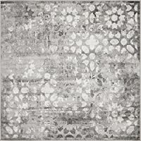 Unique Loom 3141439 Area Rug, 6 x 6, Grey