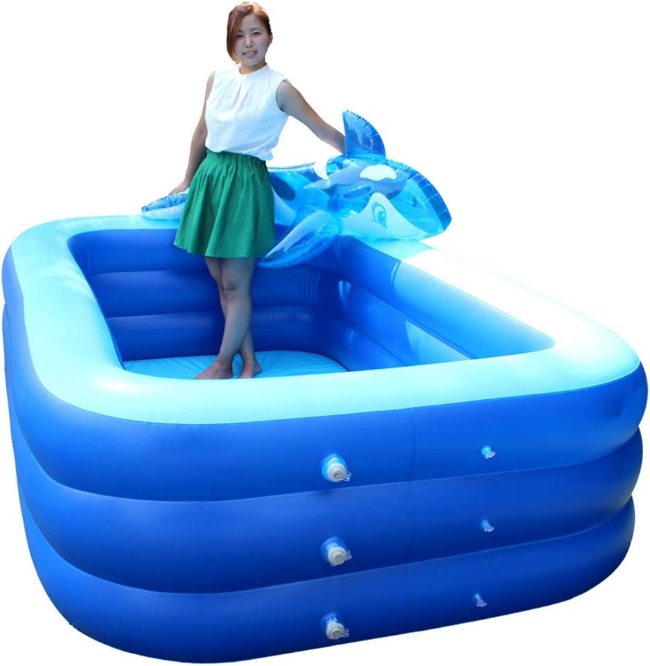 ZH1 Piscinas hinchables Piscina Inflable Square Bath Barril Adult Bath Thickening High Family Pool Baño para Niños Pequeños: Amazon.es: Hogar