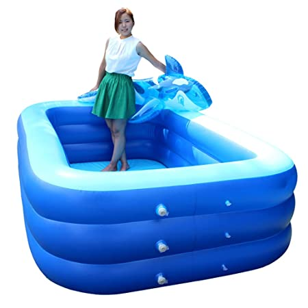 ZH1 Piscinas hinchables Piscina Inflable Square Bath Barril ...