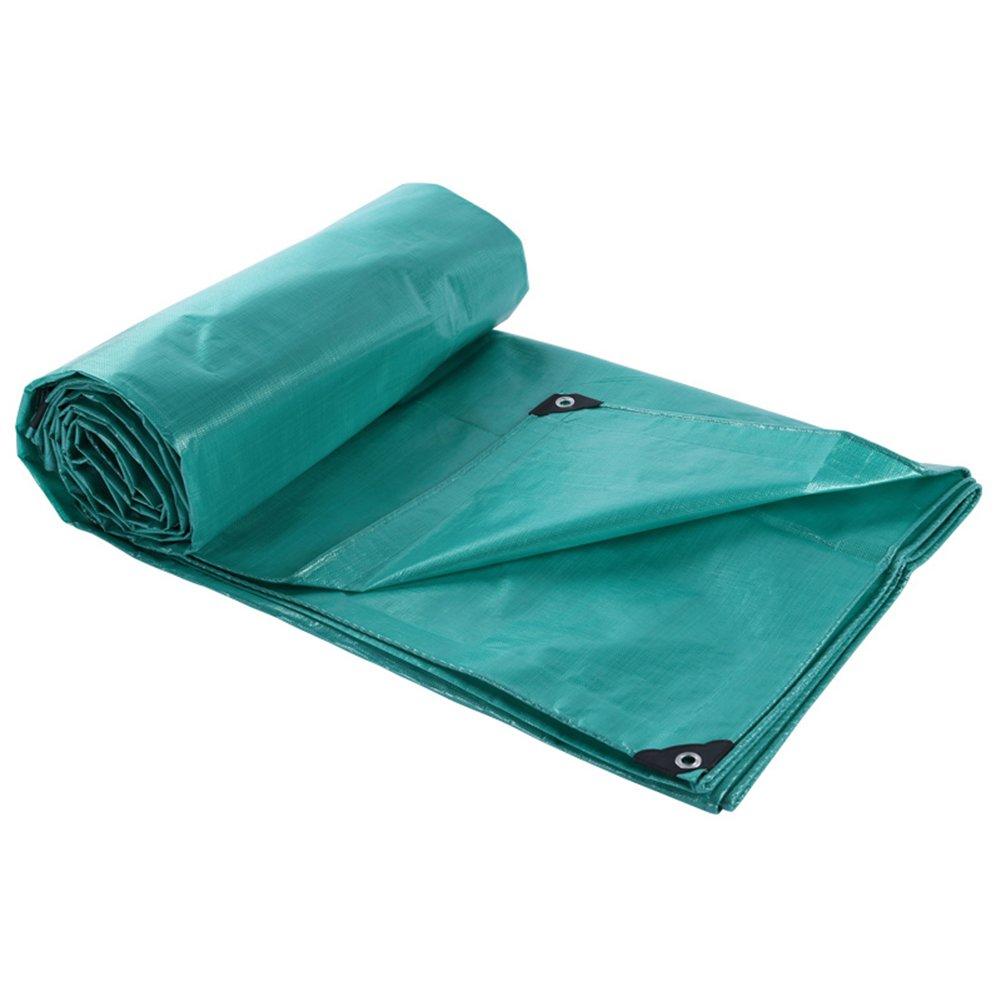 ZEMIN オーニング サンシェード ターポリン 防水 日焼け止め シート テント ルーフ 防風 厚い カバー ポリエステル、 青、 195G/14サイズあり (色 : 青, サイズ さいず : 8X12M) B07D1MJXWB  青 8X12M