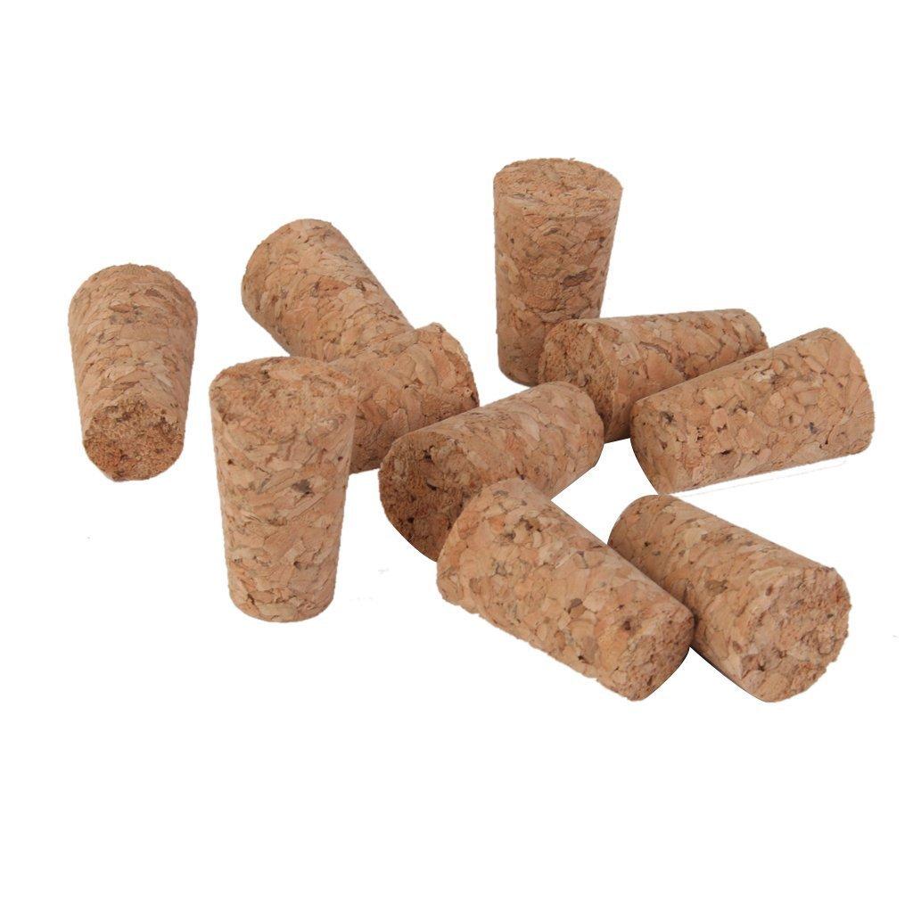 10/piezas Forma c/ónica de madera tap/ón de corcho tap/ón Tops para botella tarro Craft 21/x 14/x 22/mm