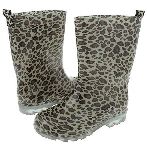 Capelli New York Girls Shiny Baby Leopard Printed Jelly Rain