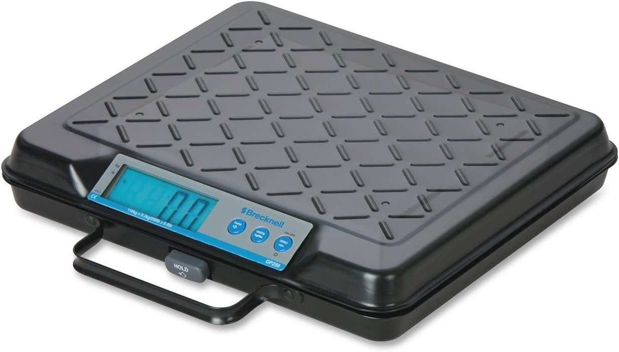 Salter-Brecknell GP250 Electronic General Purpose Portable Bench Scale with LCD Display, 10-15/16' Length x 12-1/2' Width x 2-3/16' Height, 250lbs Capacity [並行輸入品]