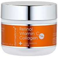 Vitamin C + Retinol + Collagen | Super Charged Anti-Aging Cream for Face | Pharmaceutical...