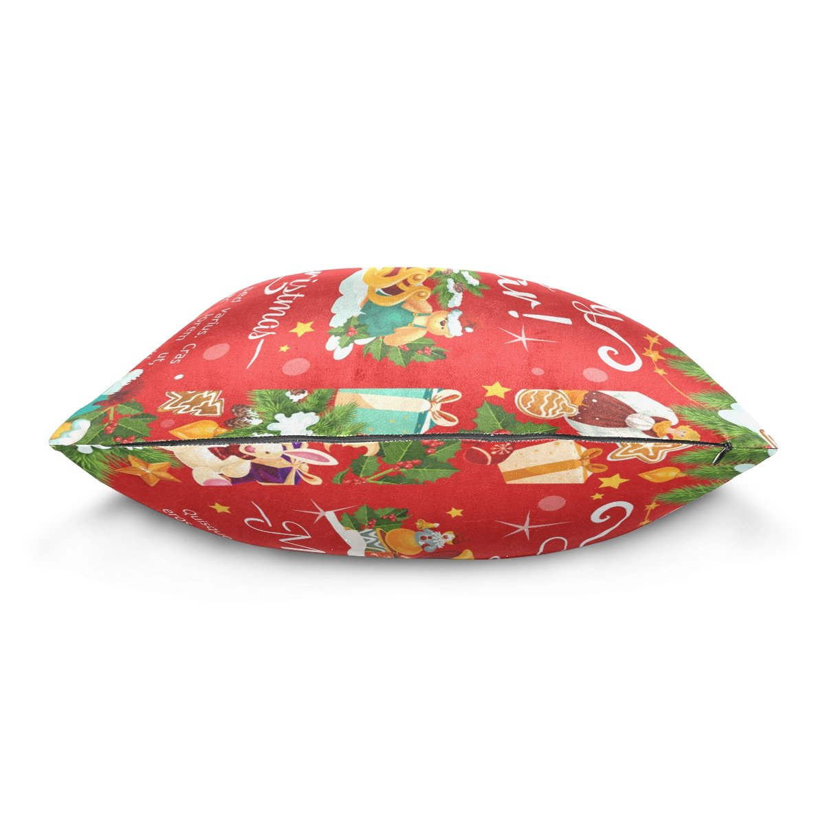 Top Carpenter Happy New Year Merry Christmas Velvet Plush Throw Pillow Cushion Case Cover - 16