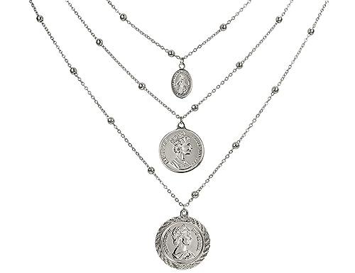 Halskette Mit Münz Anhänger Versilbert Kanadische Münze Vintage