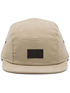 2b9ed8b6b6b Vans Basic 5-Panel Clipback Hat (Khaki) Men s Camper Volley Cap One Size