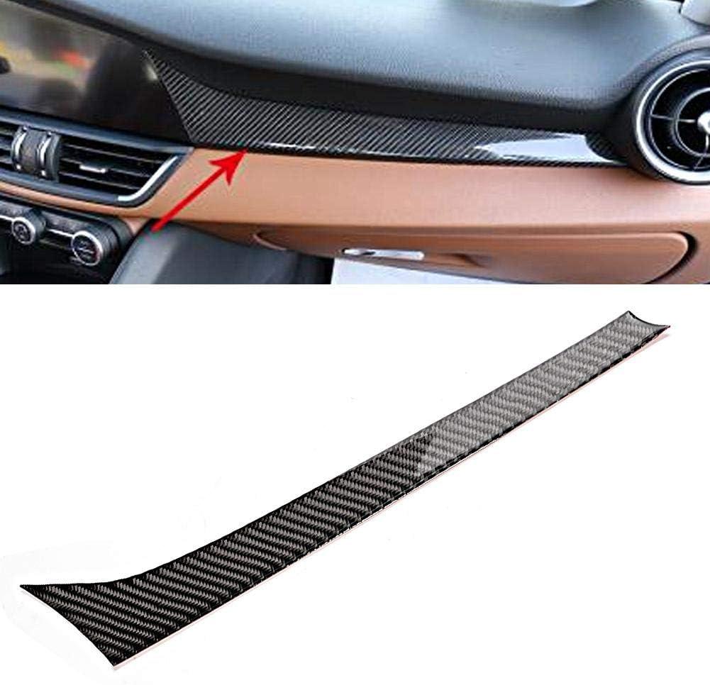Carbon Fiber Dashboard Strip Trim Car Interior Decoration Fits for Romeo Giulia 17-19 Acouto Dashboard Strip Trim