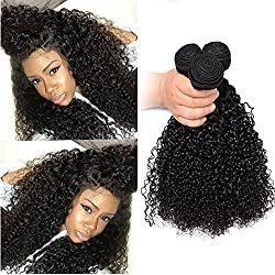 Brazilian Curly Hair Weave 3 Bundles Virgin Human Hair Extensions Good Quality Natural Color 95-100g/pc (20 22 24)