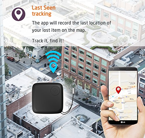 Key Finder, Gvoo Bluetooth Cell Phone Locator, Pet Dog Cat Tracker, GPS Tracker Anti Lost Alarm with Selfie Remote Control Shutter for iOS Android
