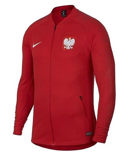 b33df622b Amazon.com : Nike 2018-2019 Poland Anthem Jacket (Red) : Sports ...