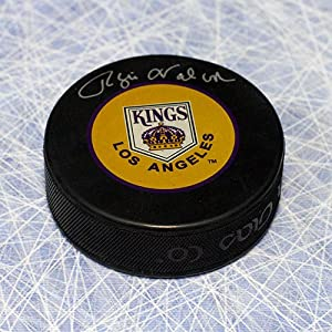 Autograph Authentic VACR112050 Rogie Vachon Los Angeles Kings Autographed Retro Logo Hockey Puck