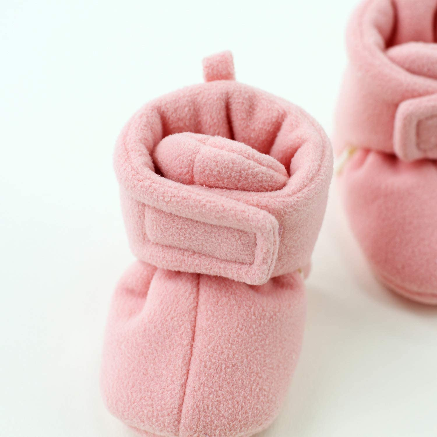 pureborn Baby Boy Girl Fleece Cozy Booties Warm Infant First Walker Shoes