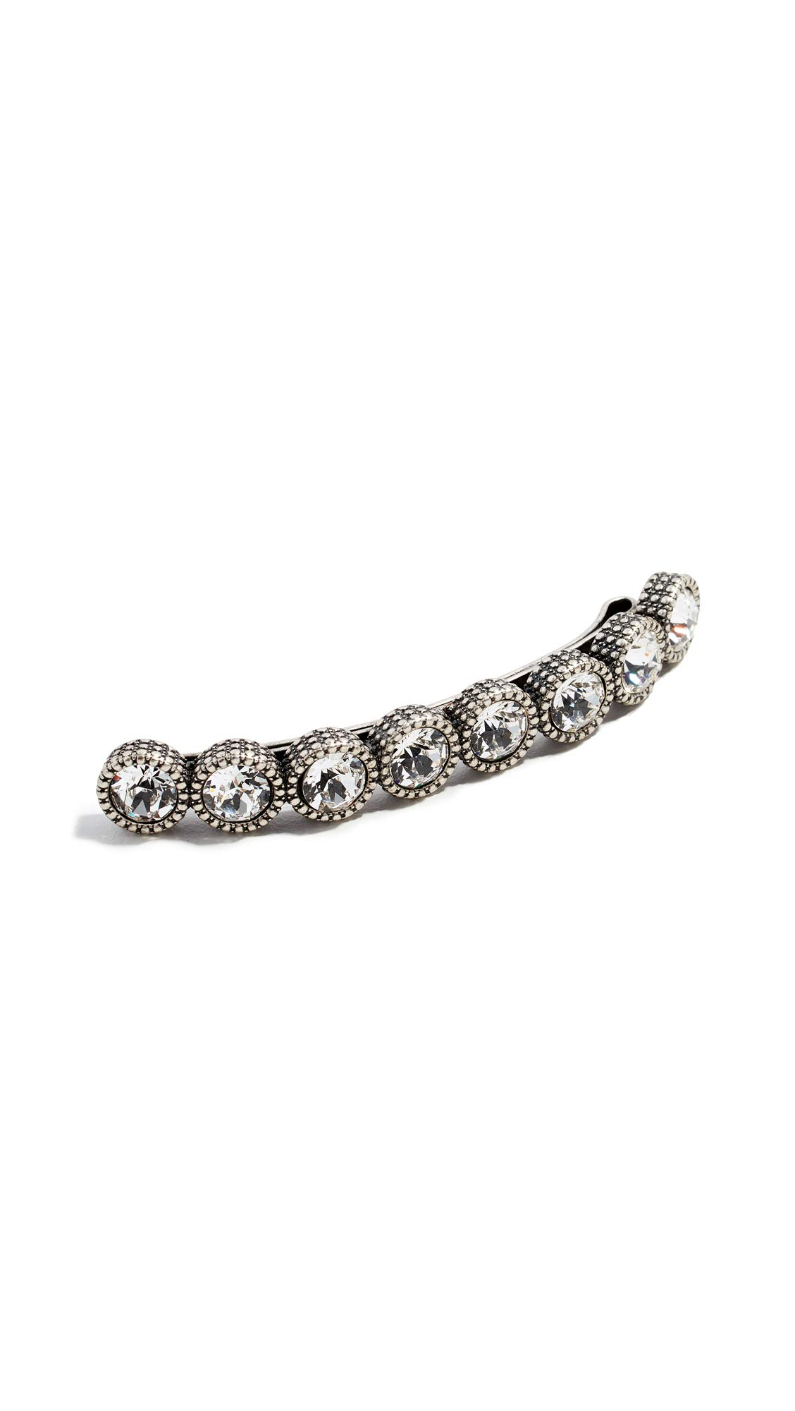 Marc Jacobs Women's Crystal Barrette, Crystal/Silver, One Size
