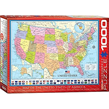 Amazon eurographics map of the world puzzle 1000 piece toys eurographics map the united states puzzle 1000 piece gumiabroncs Gallery