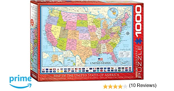 Amazoncom EuroGraphics Map Of The United States Puzzle - Us map pi