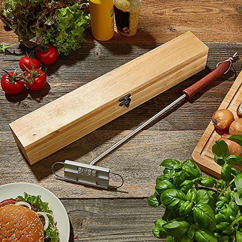 Con letras intercambiables Regalos originales Herramienta para marcar carne de Crazy Kitchen Marcador de carne para barbacoas Utensilios de barbacoa Regalos para hombres