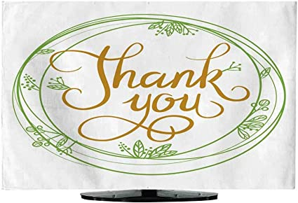 TV Cover Vector Illustration of a Nature Frame con Texto Thank You 30